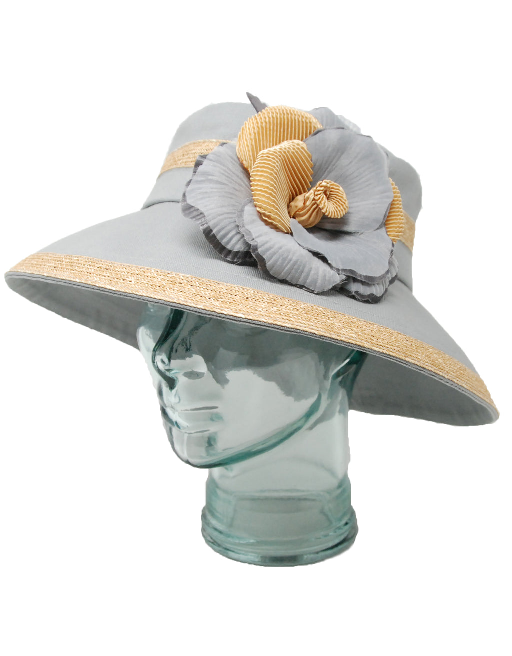 Lillie & Cohoe Lake Country Isabella Grey Canvas Flower Hat
