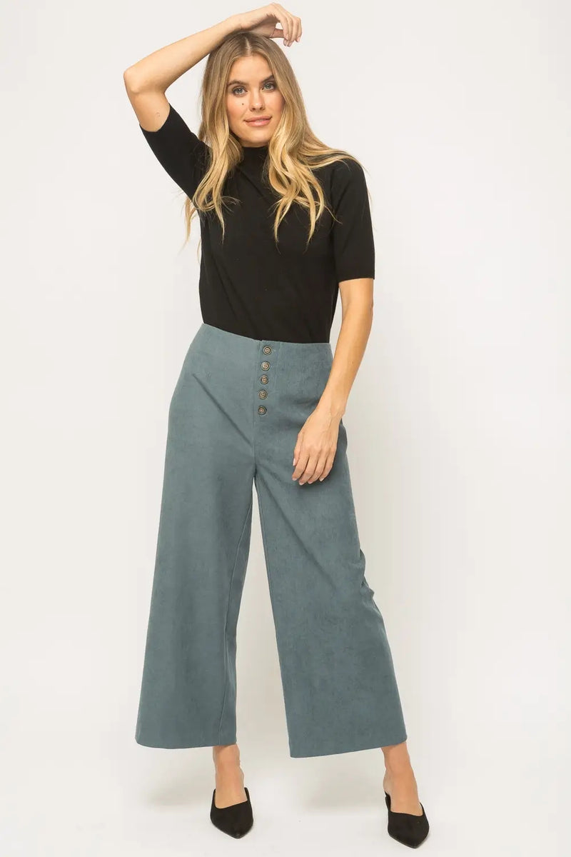 Marta Sueded  Dusty Blue Pants