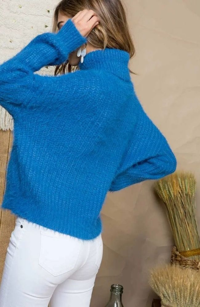 Mia Blue Turtleneck