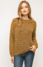 Deb Rust Mix Round Neck Sweater