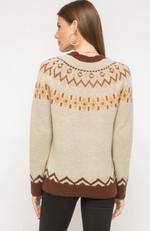 Elene Patterned Pullover Sweater
