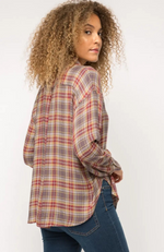 Helene Charcoal Plaid Button Down Shirt