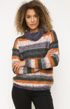 Kate Multi Color Striped Turtleneck