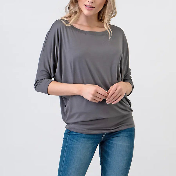 Lottie Charcoal Top