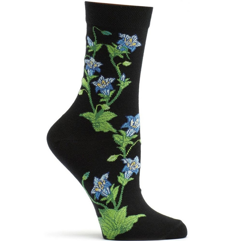 Ozone Design Apothecary Florals Gentian Sock