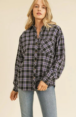 Erica Black Flannel Shirt
