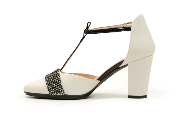 Hispanitas Pimienta Black & White Pump