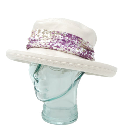 Lillie & Cohoe Plums Bridget Bone/Violet Hat