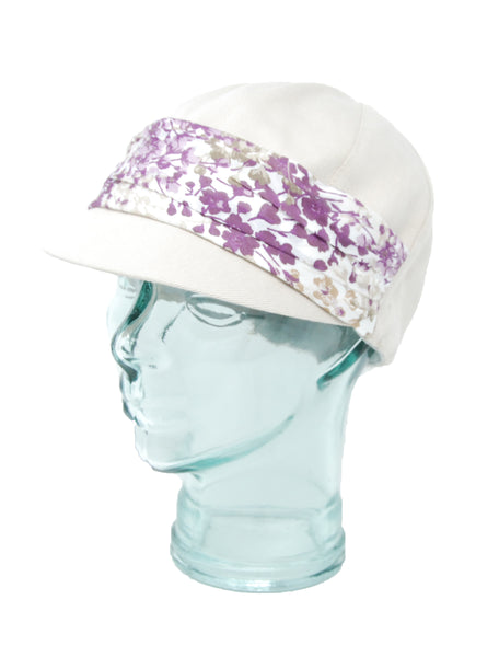Lillie & Cohoe Plums Jeanne Bone/Violet Hat