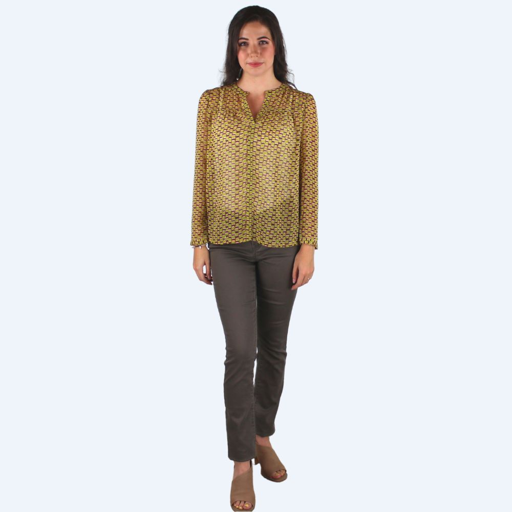 Savannah Green Blouse
