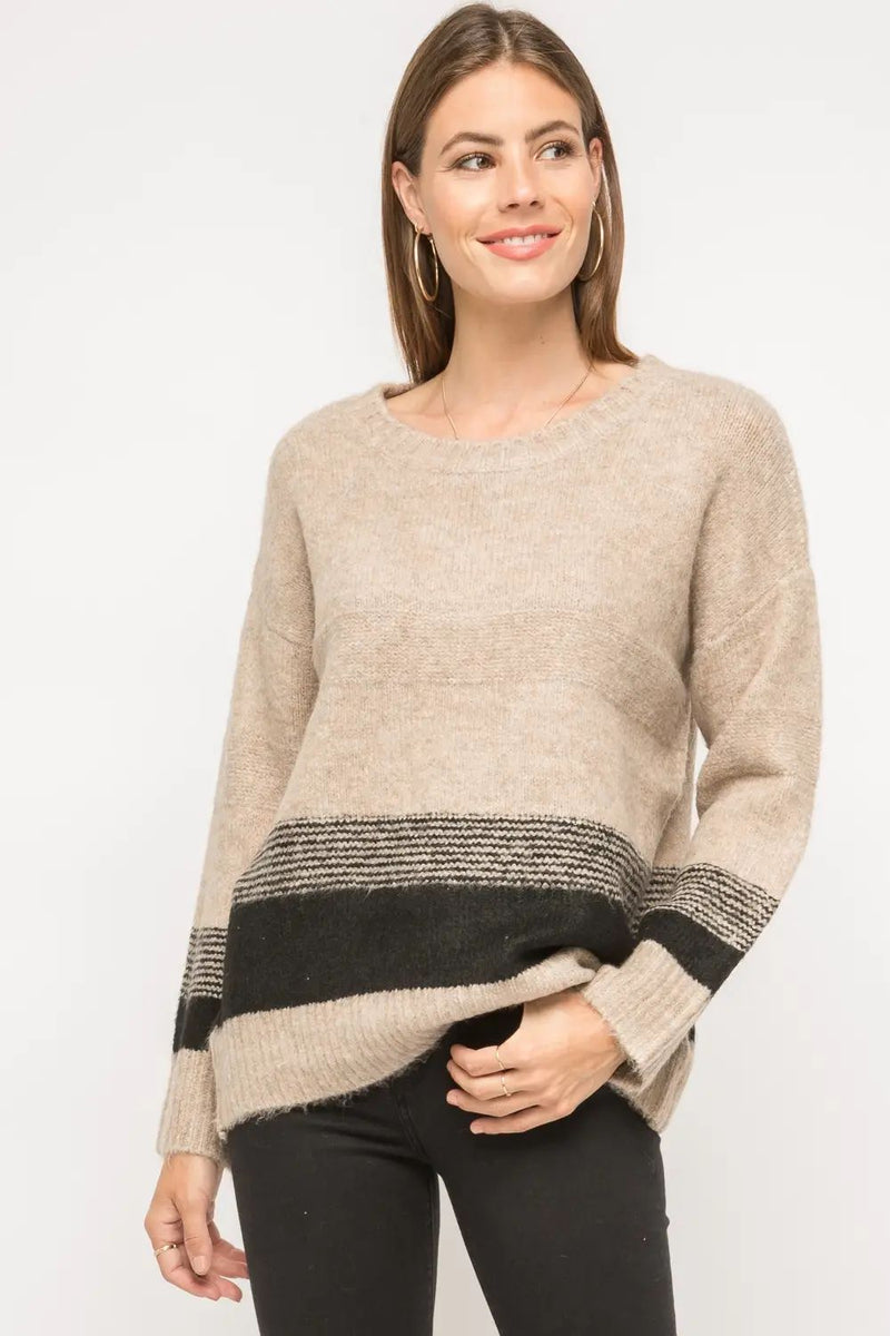 Sienna Bottom Color Block Sweater