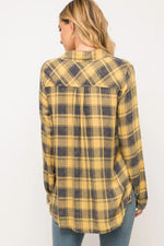 Tricia  Plaid Mustard Shirt