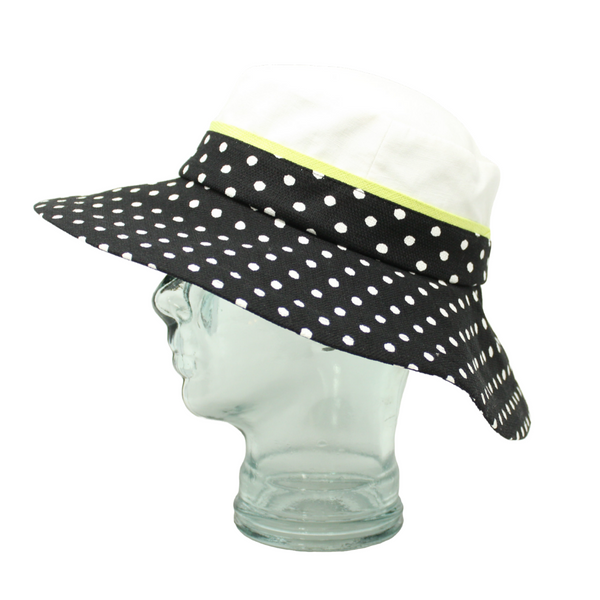 Lillie & Cohoe Polka Dot Isabella Lime Hat