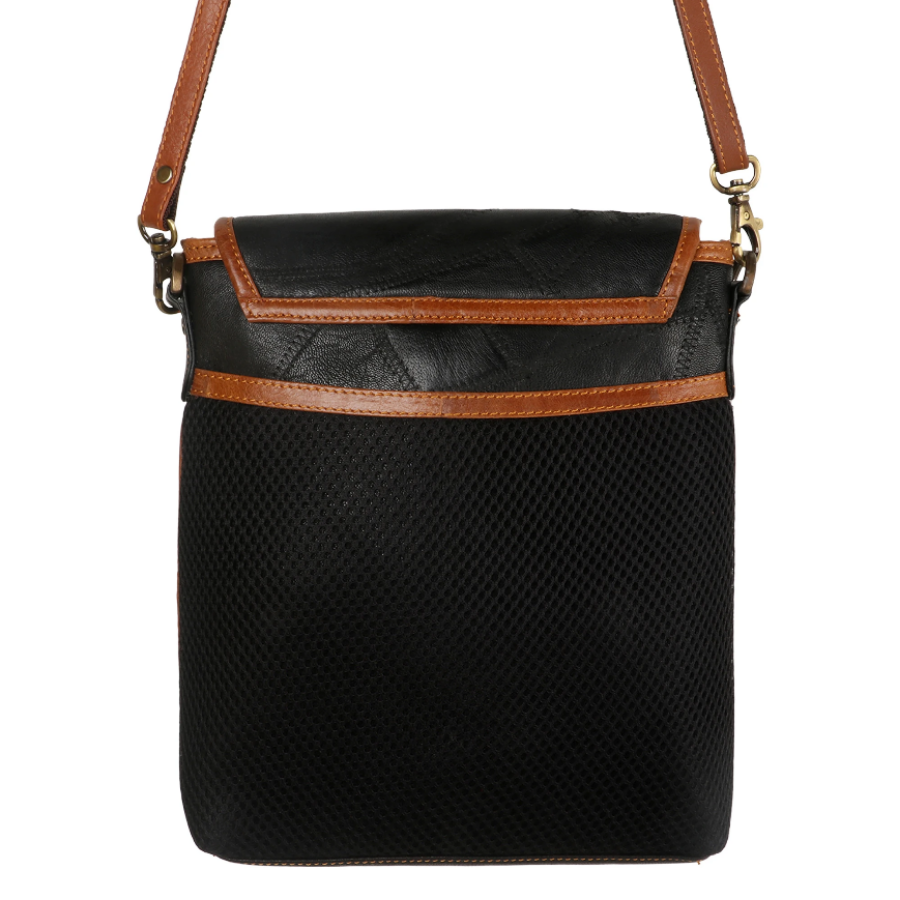 Stripe Athens Flap Crossbody