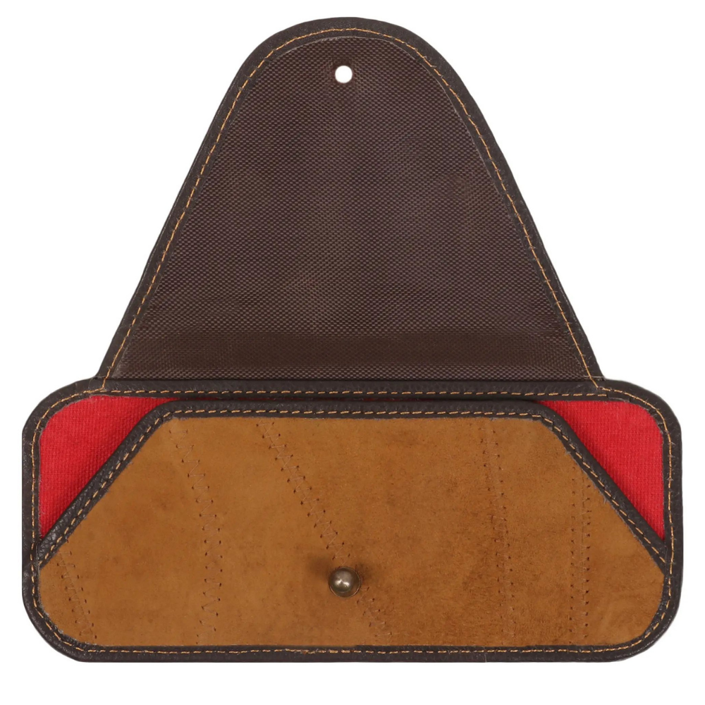 Vaan & Co. Laguna Canvas/Upcycled Leather Eyeglass Case