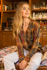 Vanessa Distressed Plaid Shirt