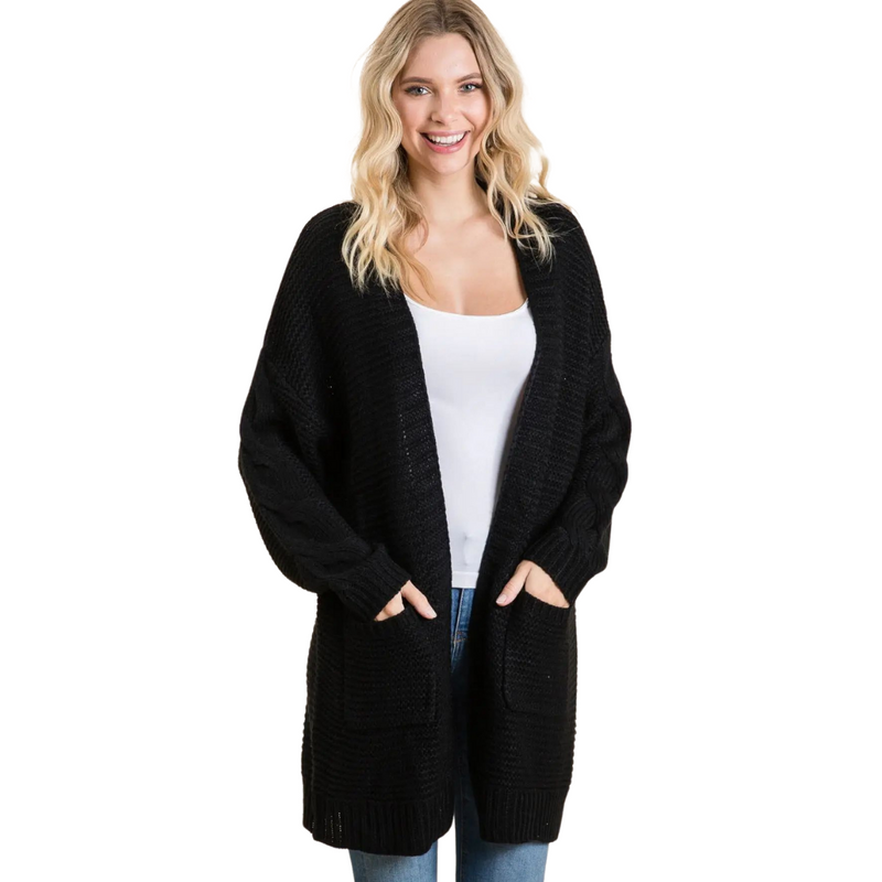 Emily Black Knit Cardigan