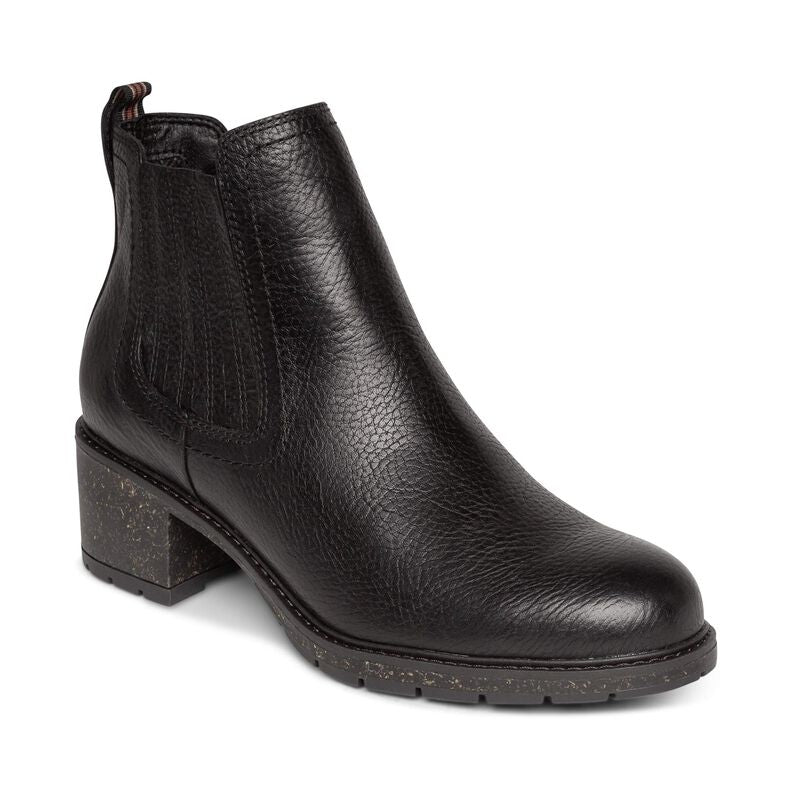 Aetrex Willow Black Ankle Boot