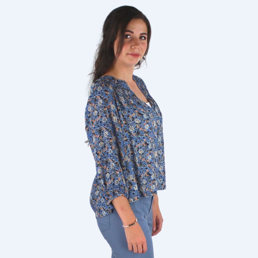 Zoe Blue Blouse