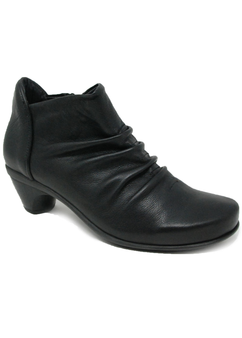Naot Advanced Soft Black Leather Ankle Boot