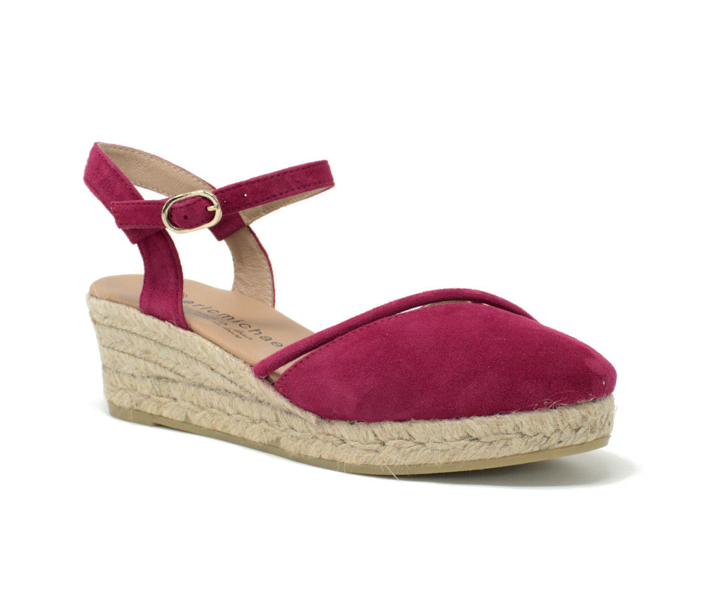 Eric Michael Emily Cherry Wedge Espadrille
