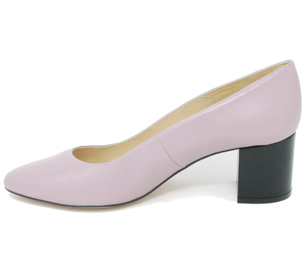 Intentionally Blank Cage Lavender Pump
