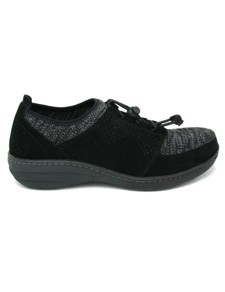 Aetrex Casey Black Bungee Slip On Shoe