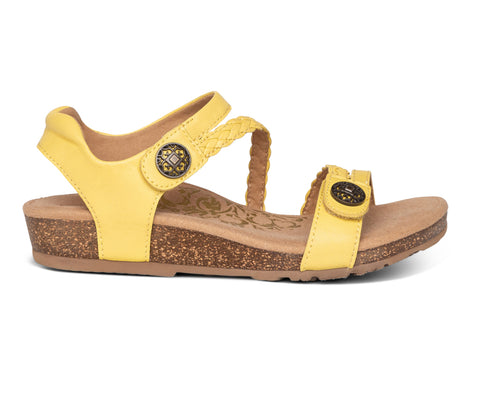 Aetrex Jillian Lemon Sandal