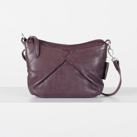 Aunts & Uncles Eliza Pretty Italian Plum Handbag