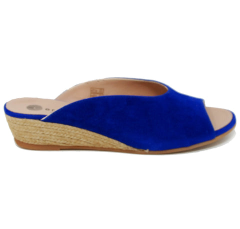 Eric Michael Evelyn Blue Slide Sandal