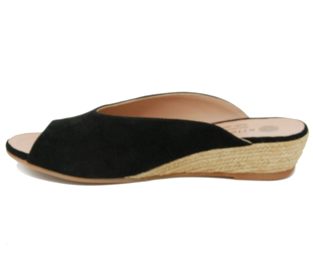 Eric Michael Evelyn Black Slide Sandal