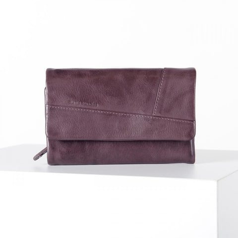 Aunts & Uncles Jill Puzzled Italian Plum Wallet