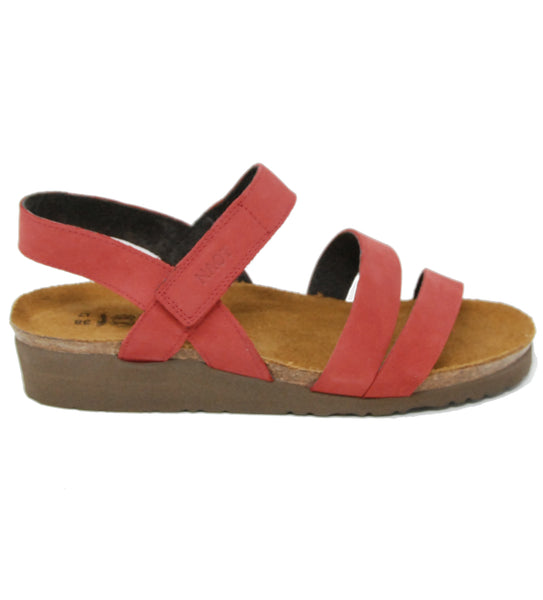 Naot Kayla Brick Red Sandal