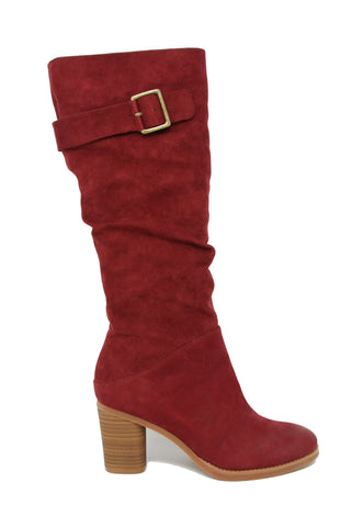 Softwalk Knox Dark Red Nubuck Tall Boot