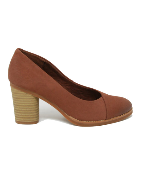 Softwalk Kolette Brown Earth Nubuck Pump