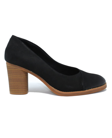 Softwalk Kolette Black Nubuck Pump