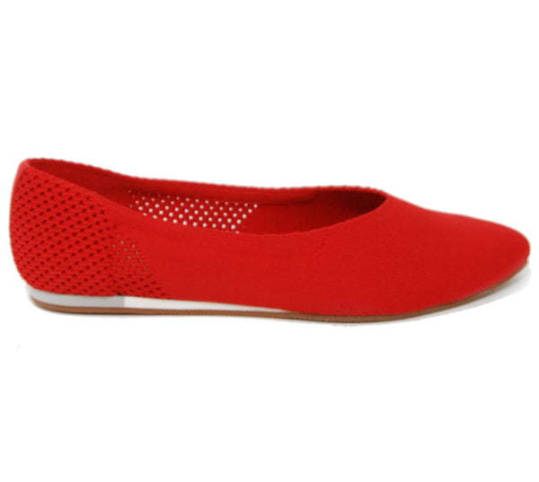 Sava Lea Knit Cherry Red Flats