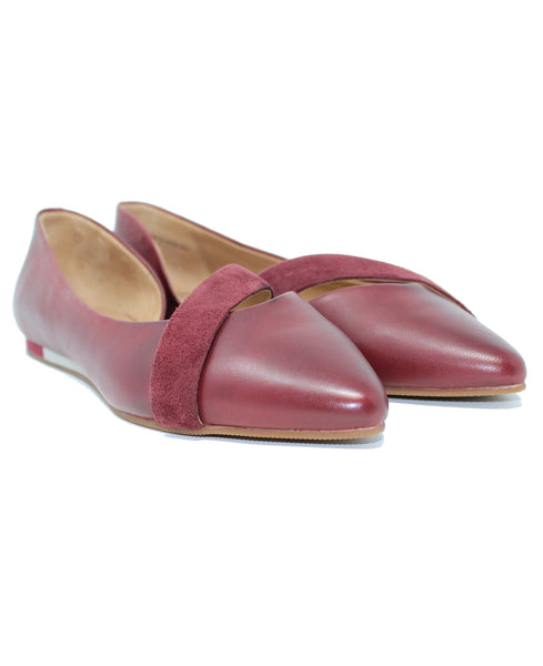 Sava Lennox Dark Red Flats