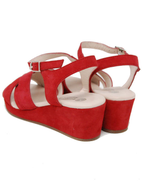 Eric Michael Muse Red Suede Sandal