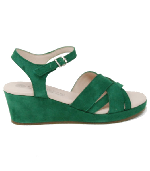 Eric Michael Muse Green Suede Sandal