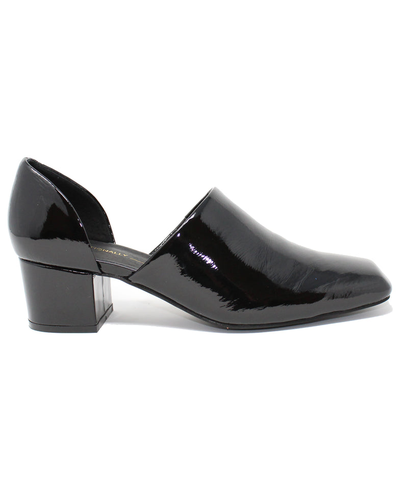 Intentionally Blank Perfection Black Patent Pump