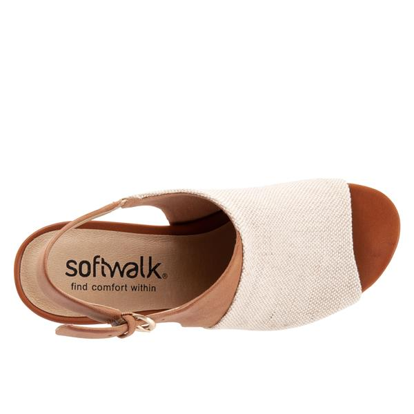 Softwalk Pomona Natural Linen Shoe