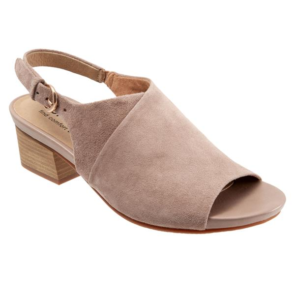 Softwalk Pomona Taupe Suede Shoe