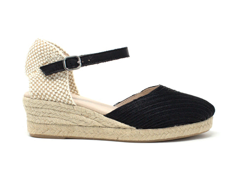Eric Michael Cassidy Black Wedge Espadrille
