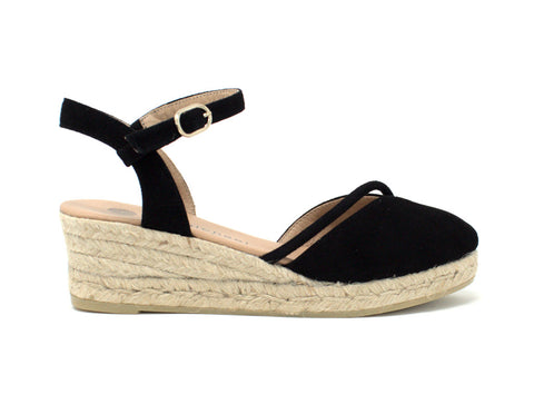 Eric Michael Emily Black Wedge Espadrille