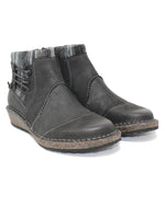 Aetrex Tessa Black Low Sweater Boot