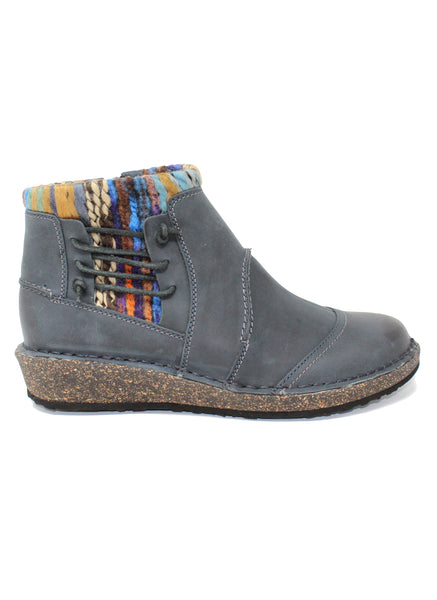 Aetrex Tessa Blue Low Sweater Boot