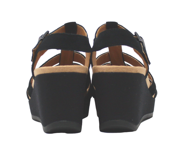 Vionic Tawny Black Wedge