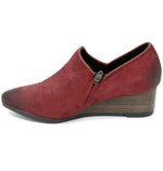 Bussola Willow Wine Wedge Ankle Boot