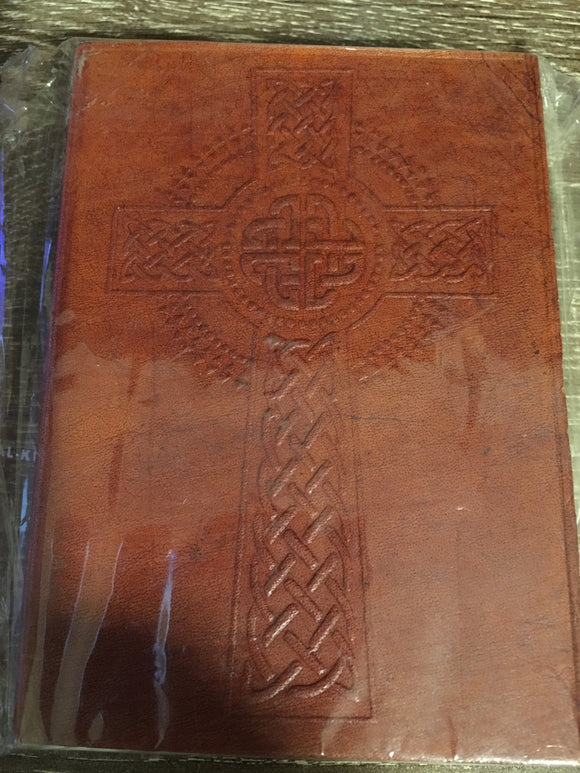 Leather Celtic Cross Journal/notebook small